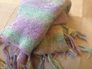 Matching hand woven afghans