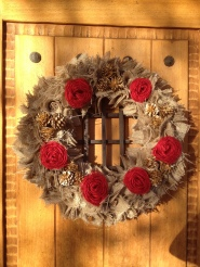 Hand crafted holiday wreath