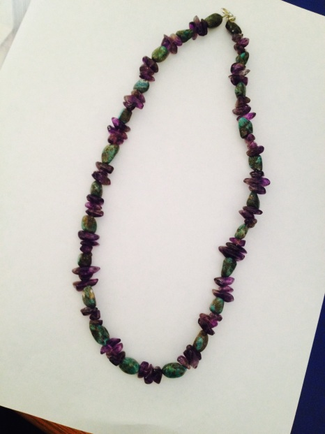Amethyst and turquoise necklace