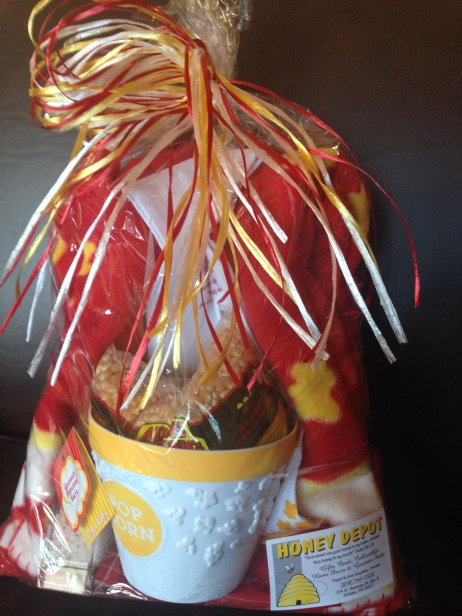 Popcorn gift basket by Honey Depot
