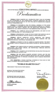 Diabetes Day Proclamation